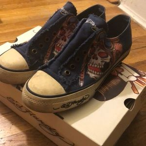 COPY - Ed Hardy Navy Kamakazi sneakers